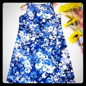 VAN HEUSEN floral  blue flower dress size 8
